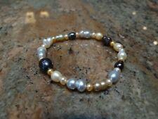 "Multi Pastel Color Baroque Pearl Bracelet 7.5+"""