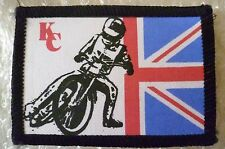 SPEEDWAY Patch- KC Speedway on Union Flag Cloth Badge Patch 70 mm (New*)