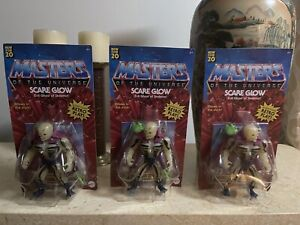 Masters Of The Universe Origins Scare Glow Figure In Hand  lot of 3 damaged