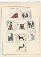 poland 1963 dogs, ships & fencing + other stamps page ref 17264