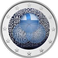 2 Euro Gedenkmünze mit Finnland 2019 Verfassung coloriert m. Farbe / Farbmünze 4