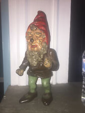 Super Rare Antique Cast Iron GNOME Doorstop Hubley Fabulous  Art Statue