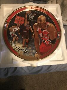 1996 Michael Jordan Plate Most Valuable Player And Set Of Three