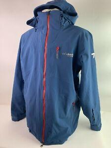 COLUMBIA Titanium CSC Mogul Pro Ski Jacket Blue Men's Size L Snowboarding $399