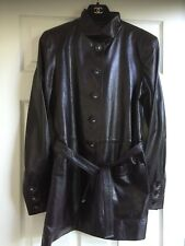 Chanel 12A Paris- Bombay NEW Burgundy Leather Jacket CC buttons Belt FR42 $10K