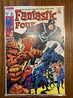 Fantastic Four 82 Marvel 1969 7.5 Inhumans Black Bolt Medusa Stan Lee Jack Kirby