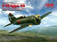 ICM 32004 - 1/32 I-16 type 10, WWII Soviet Fighter, scale plastic model kit