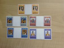 Antigua Stamps Coronation 25th Anniversary  Gutter Pair Sets