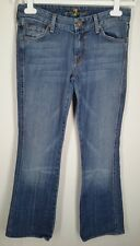 7 for all Mankind blue denim A Pocket Jeans womens size 28