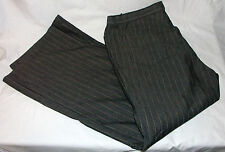"Jones Wear Sport Pants Size 16 Black Pin Stripe 30"" Inseam"