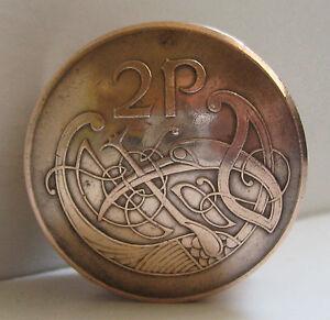 Irish Two Pence Coin Screw Lid Pill Box / Snuff Box / Birth Year Keepsake