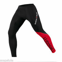 New Men's REEBOK Crossfit Compression Tights Z89210 Black Red Tights