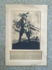 And They Thought We Couldn't Fight Rare 1920 Etching After Clyde Forsythe WWI