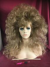 SIN CITY WIGS! BIG TEASED BROWN BABE LONG WAVY VOLUME SEXY ROCK GLAM DRAG QUEEN
