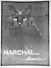 PUBLICITÉ MARCHAL STRILUX A DIFFUSEUR CENTRAL POUR ÉCLAIRAGE ROUTE CODE - CHAT