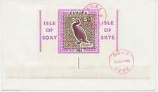 GB LOCALS ISLE OF SKYE (SOAY) SCOTLAND 1965 EUROPA 5 Sh. MS very rare FDC