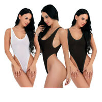 Lingerie Women's Mesh Sheer Leotard Thong High Cut One Piece Bodysuit Sleepwear