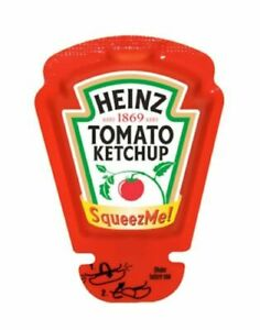 50 x 26ml Heinz Tomato Ketchup SAUCE Squeeze Me Sachets