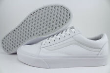 VANS OLD SKOOL TRIPLE TRUE WHITE/WHITE LOW CANVAS CLASSIC SKATE SK8 US MEN SIZES