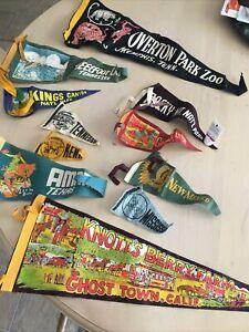 Vintage Flags Pennants Souvenirs Lot 1950's