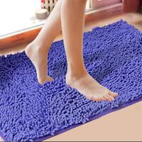 Shaggy microfibre salle de bain douche tapis couverture antidérapant-12couleurs
