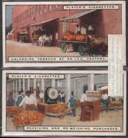 Tobacco Warehouse Receiving and Weighing Tobacco Leaf TWO 90+ Y/O Trade Ad Cards