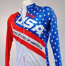 Team USA Long Sleeve Cycling Jersey Size Large