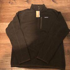 NWT Men's Patagonia Better Sweater 1/4 Zip Jacket Size Large Logwood Brown