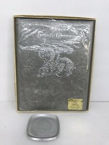 Hallmark VTG 25th Silver Anniversary Photo Album Dishes Lot 5 Filigree
