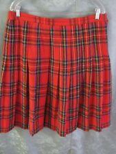 70's Wardrobe Maker Tartan Plaid Skirt Size 18P