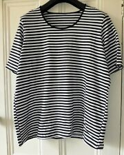 Ex-German Cataloge Black and White striped Tee shirt Top Size XL 18/20     BNNT