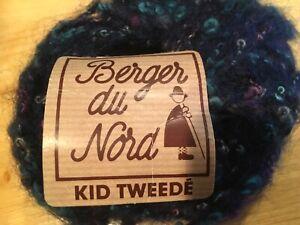 Lot of 6 vintage Skeins Berger du Nord turlututu Black