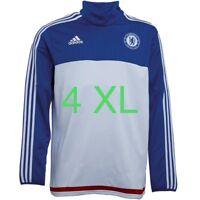 4XL adidas Mens CFC Chelsea 3 Stripe ClimaCool Football Training Top White/Blue