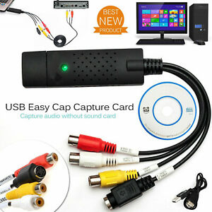 USB 2.0 VHS TAPE TO PC DVD CONVERTER VIDEO & AUDIO CAPTURE CARD/ADAPTER UK