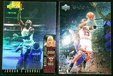 Michael Jordan 1996 UD Holoview International SP Insert + UD Tribute Foil Lot