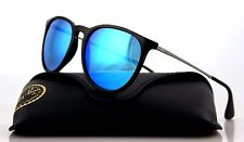 NEW Authentic Ray-Ban ERIKA Black Gunmetal Blue Mirror Sunglasses RB 4171 601/55
