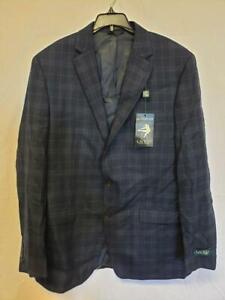 MSRP $375 Lauren Ralph Lauren Mens Suit Jacket Navy Plaid Size 42L
