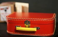 History-Wartime-1940's Kids Small Red Suitcase-Perfect Fancy Dress Accessory