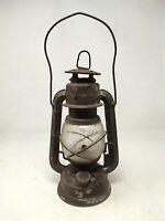 Antique Old Rustic Iron Indian Brand Jyoti Oil Kerosene Lightning Lamp Lantern