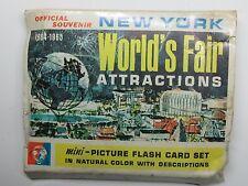 WORLD'S FAIR Mini-Picture FLASH CARD SET 24 Pcs New York 64-65 #WF13 jbv