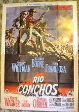 MANIFESTO ORIGINALE RIO CONCHOS 64 EDMOND O'BRIEN FRANCIOSA WESTERN
