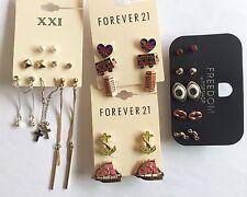 NWT Wholesale lot 16 pairs Forever 21 rhinestone teardrop chandelier earrings