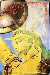 Adrenalin O.D. Original Promo Poster 1988 Cruising With Elvis Hardcore Punk Rock