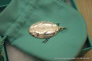 Tiffany & Co. / Globe Keychain / 925 Silver