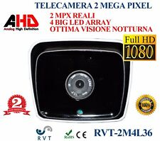 TELECAMERA VIDEOSORVEGLIANZA 3,6MM AHD 4 LED ARRAY 2 MPX ALTA QUALITA' 1080