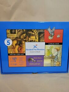 Hooked on Phonics Learn to Read Level 5 Audio Tapes, Books, Flash Cards Complete