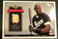 2001 UPPER DECK MICHAEL JORDAN GAME USED BAT MJ SALUTE MINOR BASEBALL B13