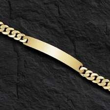 "Link Bracelet 6.5 mm 19 grams 8"" 14k Solid Yellow Gold Men's Id Curb"