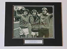 Gibson Shaw Cowans Aston Villa HAND SIGNED Autograph Photo Mount COA Proof
