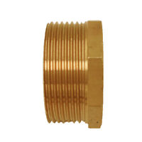 """11/2"""" BSPT Male x 11/4"""" NPT Female Reducing Bushing Brass Pipe Fitting"""